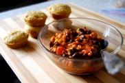 vegan three bean chili with orange and ginger