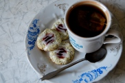 poppyseed thumbprint cookies with jam