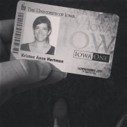 my grad ID complete with what looks like a rat tail