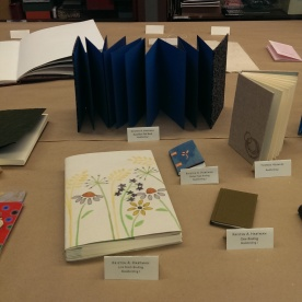 books on display at the UICB open house