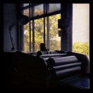 lovely views from the Vandercook Universal 1 press