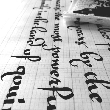 gothic cursive variation one