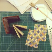 single section case binding -- the case, the textblock, and the decorative paste downs.