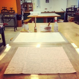 making hand-backed book cloth (used to cover book board)