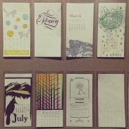 Ladie's Typographic Union calendars on display and for sale
