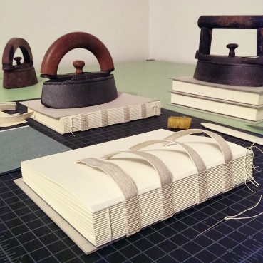 sewing on linen tapes