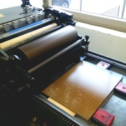 printing with ink and mineral spirits