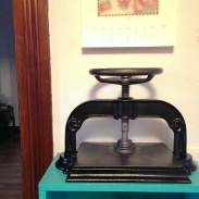 my new nipping press!