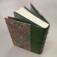 quarter-leather binding